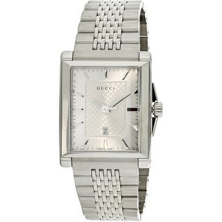 a0528b72517 Shop Gucci Women s G-Timeless Silver Stainless-Steel Fashion Watch - Free  Shipping Today - Overstock - 18618052