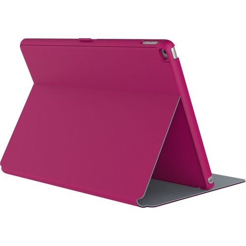 Speck StyleFolio Case for Apple iPad Mini 2, Mini 3 - Fuchsia Pink/Nickel Grey
