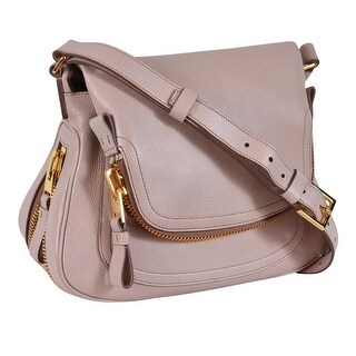 Tom Ford Women's Blush Leather JENNIFER Crossbody Saddle Bag Purse - Pink