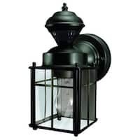 Heath Zenith HZ-4132 Bayside 1 Light 150 Degree Motion Activated Outdoor Wall Sconce - Black