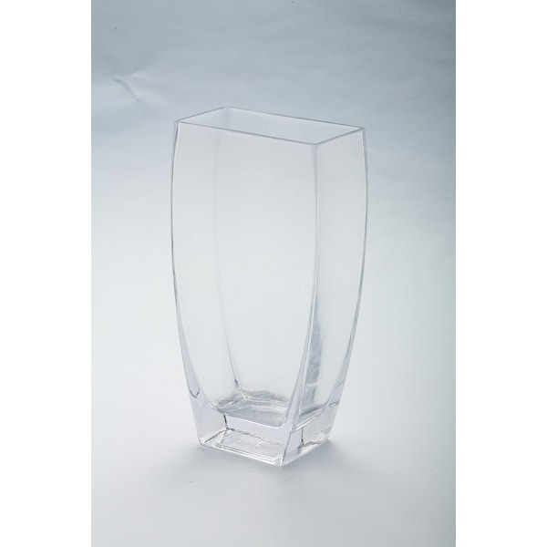 """10"""" Tapered Rectangle Tabletop Glass Vase - N/A"""