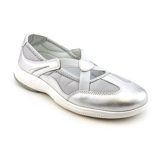 Propet Sapphire Women N/S Round Toe Leather Silver Flats