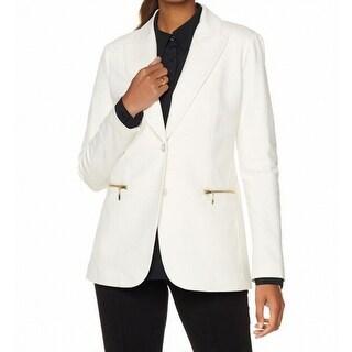 DG2 By Diane Gilman NEW White Womens Size XL Boyfriend Ponte Blazer