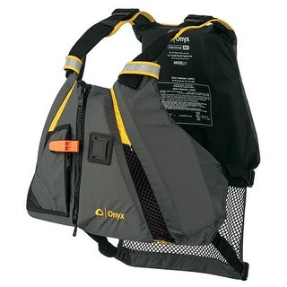 """Onyx Movement Dynamic Paddle Sports Vest - Medium and Large Movement Dynamic Paddle Sports Vest - Yellowith Grey - Medium and"