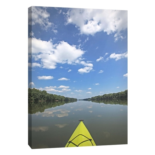 """PTM Images 9-105980 PTM Canvas Collection 10"""" x 8"""" - """"Potomac River Kayak"""" Giclee Forests Art Print on Canvas"""