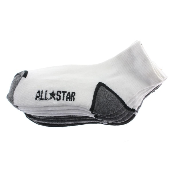 Converse Boys All Star Crew Socks Ribbed Knit Contrast Trim - 6-1.5