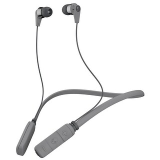 Skullcandy Ink'd Bluetooth Wireless Earbuds with Mic, Street/Gray/Chrome