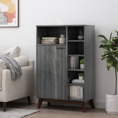 Shop Christopher Knight gray indoor multi functional cabinet on sale at Overstock