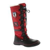 Pajar Women's Grip Zip Boot Black/Red