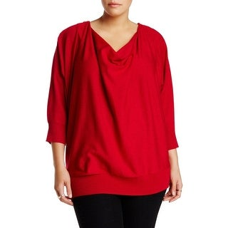 Chelsea & Theodore NEW Red Women's Size 2X Plus Cowl Neck Dolman Sweater