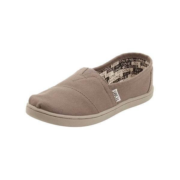 4b50153dddd Shop TOMS Youth Classic Canvas Shoes in Ash - Free Shipping On ...