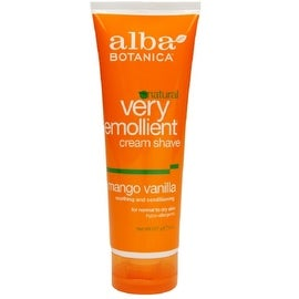 Alba Botanica Natural Very Emollient Cream Shave, Mango Vanilla 8 oz