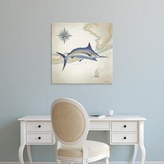 Easy Art Prints Rick Novak's 'Sailfish Map I' Premium Canvas Art