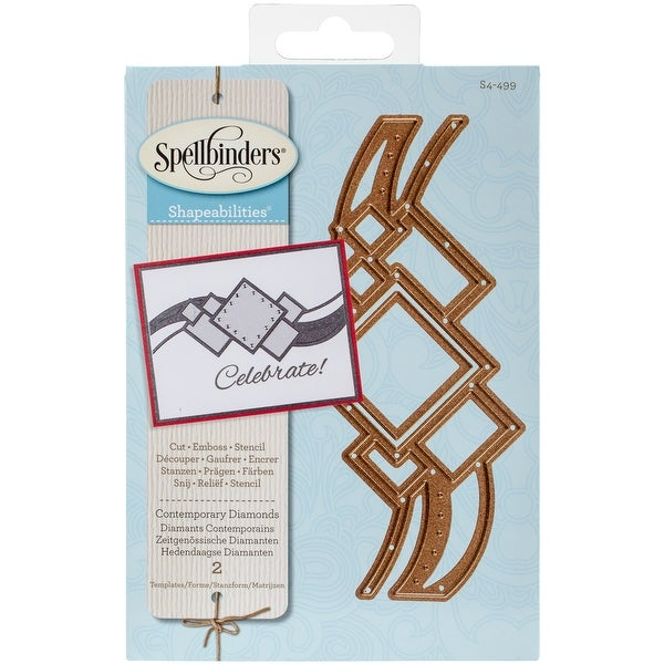 Spellbinders Shapeabilities Dies-Contemporary Diamonds