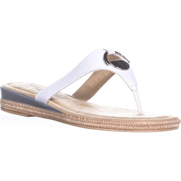 Easy Street Belinda Flat Thong Sandals, White