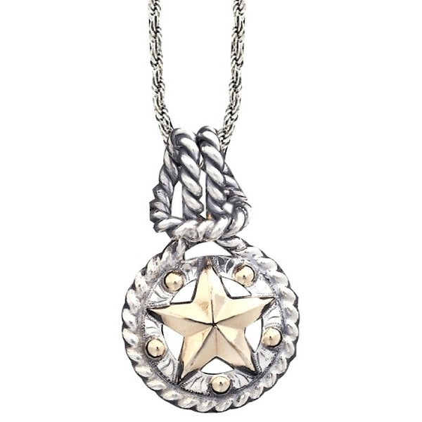 """Vogt Western Women Necklace Knotted Bale 18"""" Silver Gold 016-325 - silver gold"""