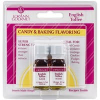 Candy & Baking Flavoring .125oz 2/Pkg-English Toffee