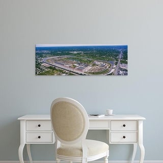 Easy Art Prints Panoramic Image 'View Of A Racetrack, Indianapolis Motor Speedway, Indianapolis, Indiana' Canvas Art