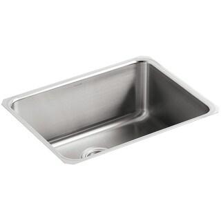 """Kohler K-3325  Undertone 23"""" Single Basin Under-Mount 18-Gauge Stainless Steel Kitchen Sink with SilentShield - Stainless Steel"""