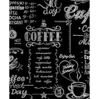 Graham and Brown 32-993 56 Square Foot - Coffee Shop Black & White - Non-Pasted Non-Woven Wallpaper - N/A