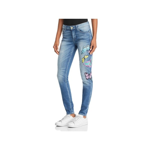 ee917a10dfe9e Shop Guess Womens Sexy Curve Skinny Jeans Denim Medium Wash - Free ...