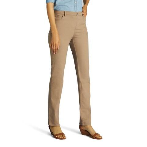 Lee Women's Classic Fit Straight Leg Jean-Light Fawn