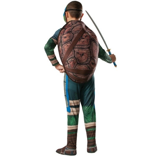 Teenage Mutant Ninja Turtles Deluxe Leonardo Costume with Muscles New by Rubies