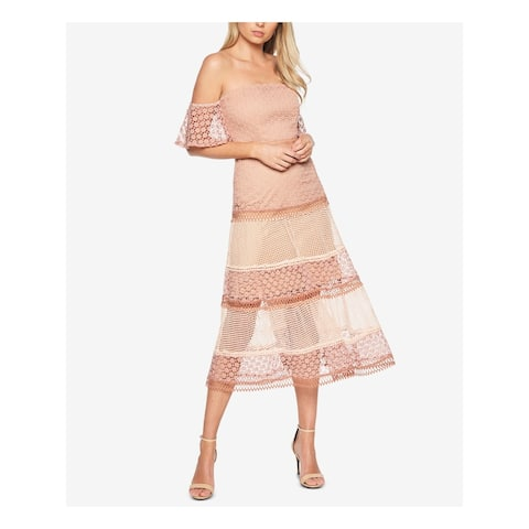 BARDOT Pink Bell Sleeve Below The Knee Dress M