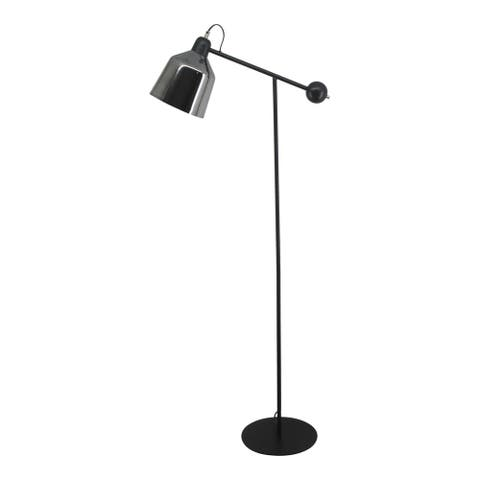 Aurelle Home Sonora Matte and Glossy Floor Lamp