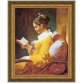15.25X17.25 A YOUNG GIRL READING 1770 DESIGN TOSCANO French Framed art