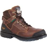 "Georgia Boot Men's G086 6"" Zero Drag WP Steel Toe Boot Brown Leather"