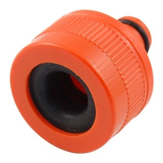 Spray Nozzle Hose Fitting Plastic Orange Red Connector Adapter