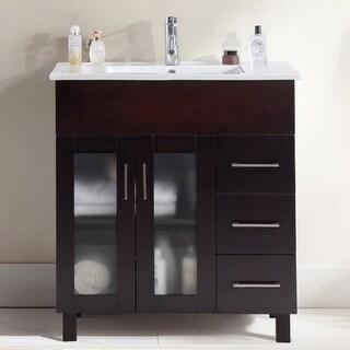 """Miseno MV-NUO32 Nuovo 32"""" Free Standing Vanity with Vanity Top and Undermount Sink"""