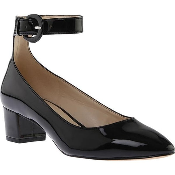ee102b724c5 Shop Nine West Women s Brianyah Ankle Strap Heel Black Synthetic ...