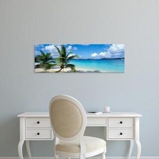 Easy Art Prints Panoramic Images's 'Salomon Beach US Virgin Islands' Premium Canvas Art