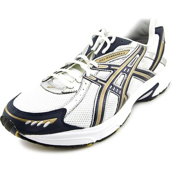 Asics Gel-Kanbarra 4 Men White/Navy/Gold Running Shoes