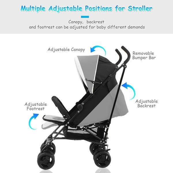 Foldable Baby Stroller Buggy Kids Jogger Travel Infant Pushchair Lightweight