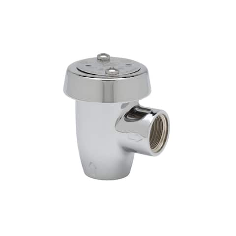 """T and S Brass B-0969 Atmospheric Vacuum Breaker with 1/2"""" NPT Inlet & Outlet - Polished Chrome"""