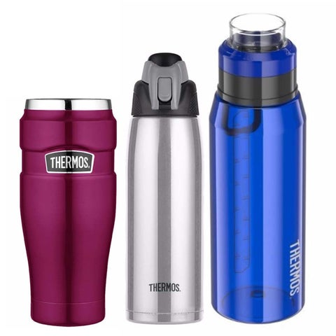Thermos Vacuum Insulated 16oz Travel Tumblr (Pink) with Two Hydration Bottles