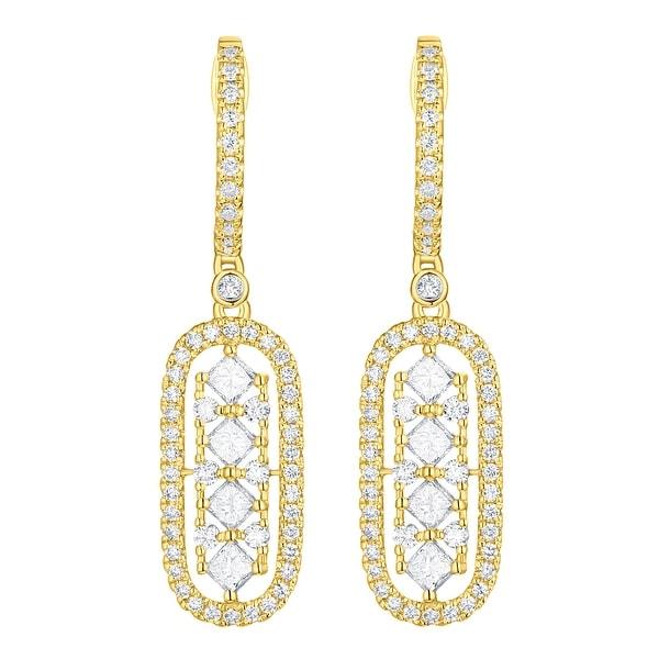 93da26275 Shop Prism Jewel 0.87 TDW G-H/SI1 & I1 Natural Diamond Oval Shape ...