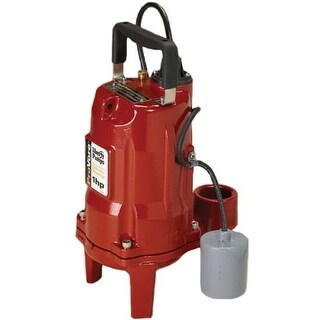 "Liberty Pumps PRG101A 1 HP ProVore Residential Grinder Pump (2"") with Piggyback Tether Float"