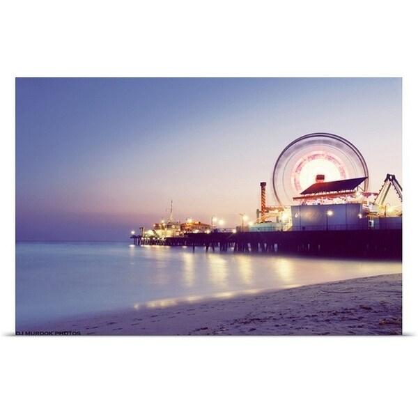 """Ferris Wheel on the wharf, Santa Monica, California"" Poster Print"