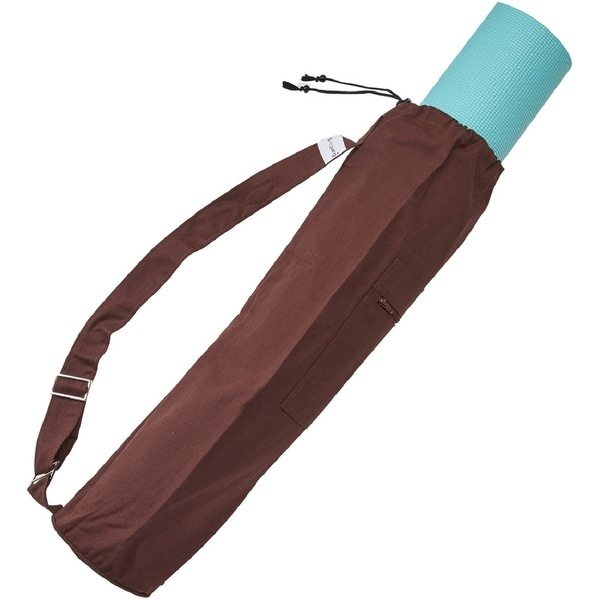 Sol Living Cotton Yoga Mat Carrier Bag for Yoga Mat with Drawstring. Opens flyout.
