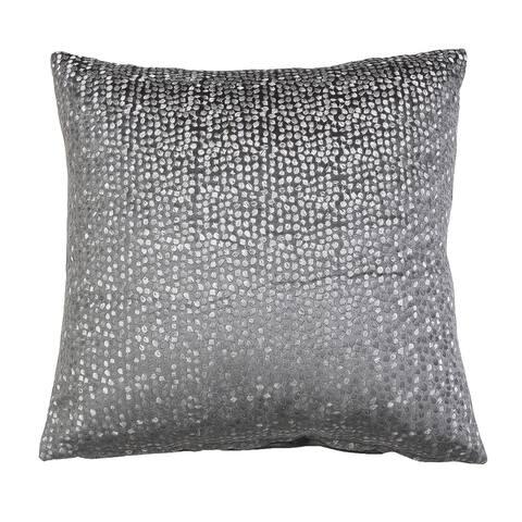 18x18 Oyshee Metallic Embroidered Cut Velvet Pillow