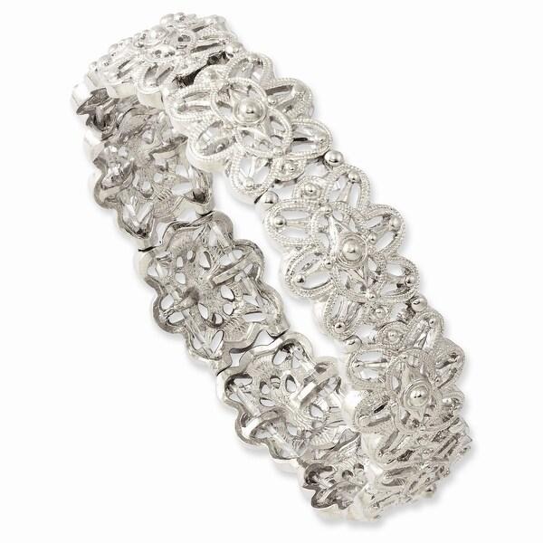 Silvertone Stretch Bracelet
