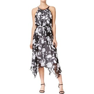Sangria Womens Casual Dress Chiffon Belted - 12