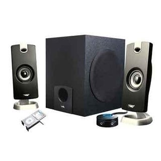 Cyber Acoustics 2.1 Multimedia Laptop Computer Speakers With Subwoofer With System Control Pod (Ca-3090)