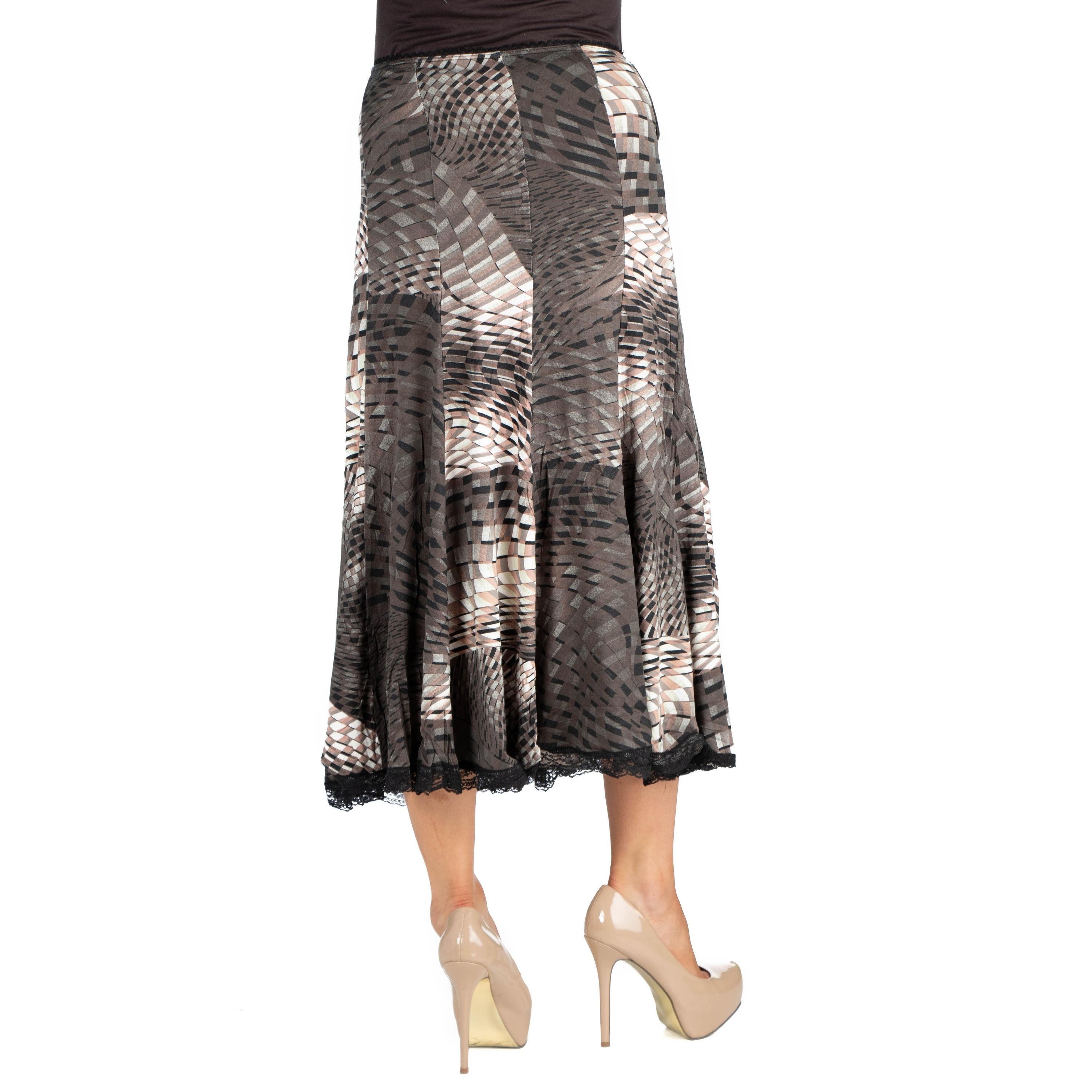 12248423cb Shop 24seven Comfort Apparel Midi Maternity Skirt - Free Shipping On Orders  Over $45 - Overstock - 23621304