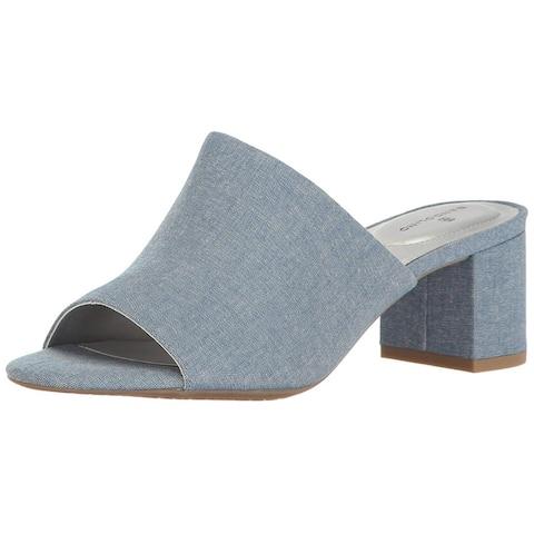 Bandolino Womens Spars Peep Toe Casual Mule Sandals