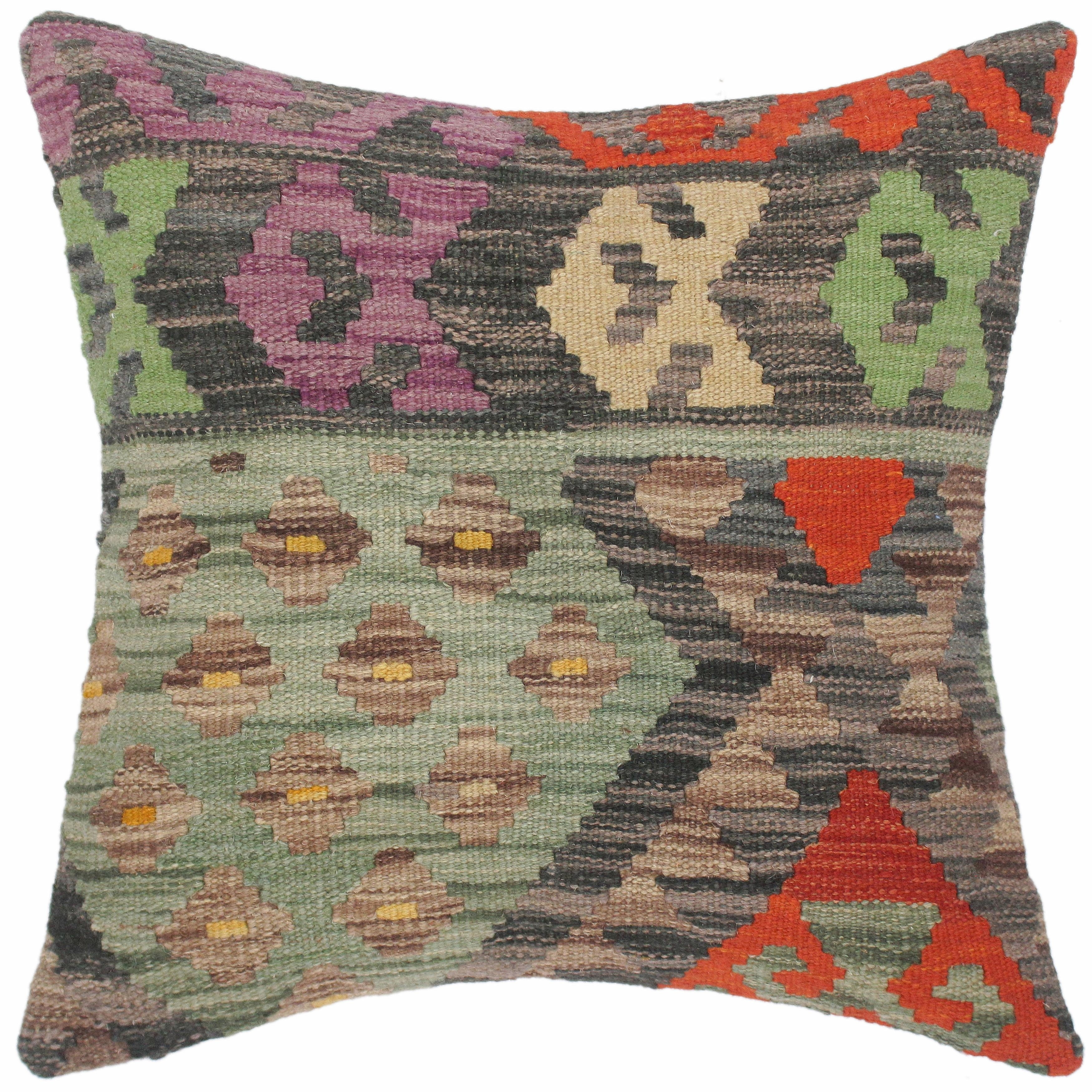 Home  faded pillows kilim pillow distressed pillow boho turkish pillow Cushion Covers indoor pillow 40*0296 18x18